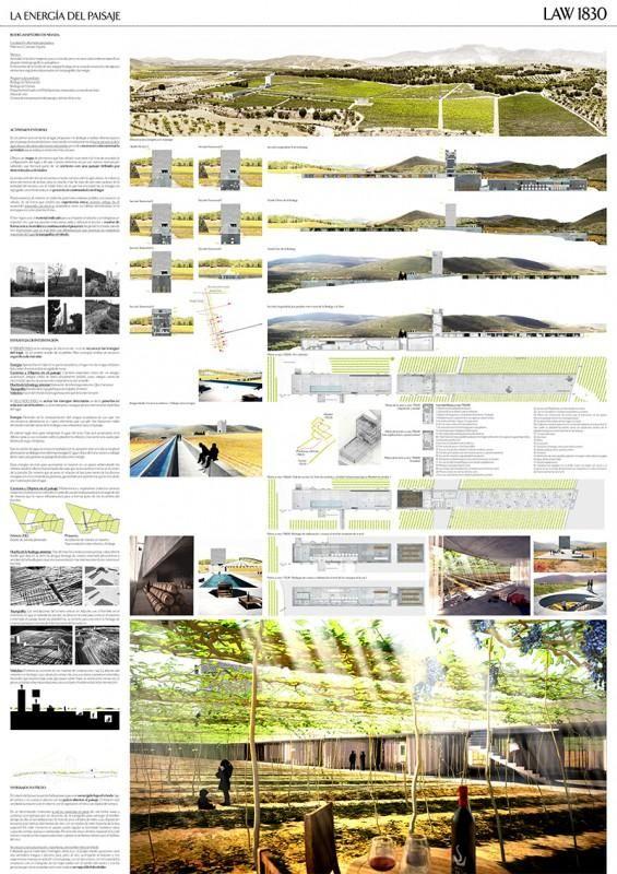 [A3N] : Landscape, Architecture & Wine Competition Winner ( Spain ) ( 2nd prize : La Energia Del Paisaje ) /  Juan Antonio Serrano García, Paloma Baquero Masats.