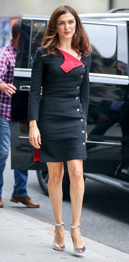 Rachel Weisz in Altuzarra outside 'The Late Show with Steven Colbert'.