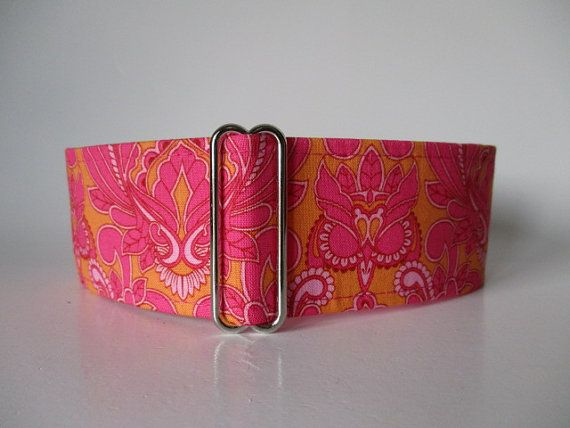Owl Martingale Collar 1.5 inch Martingale Collar by HuggableHound