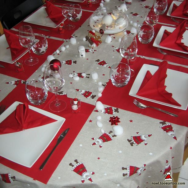 Installation id es d coration de table de no l faire soi m me meme table decorations and noel Idee deco table noel