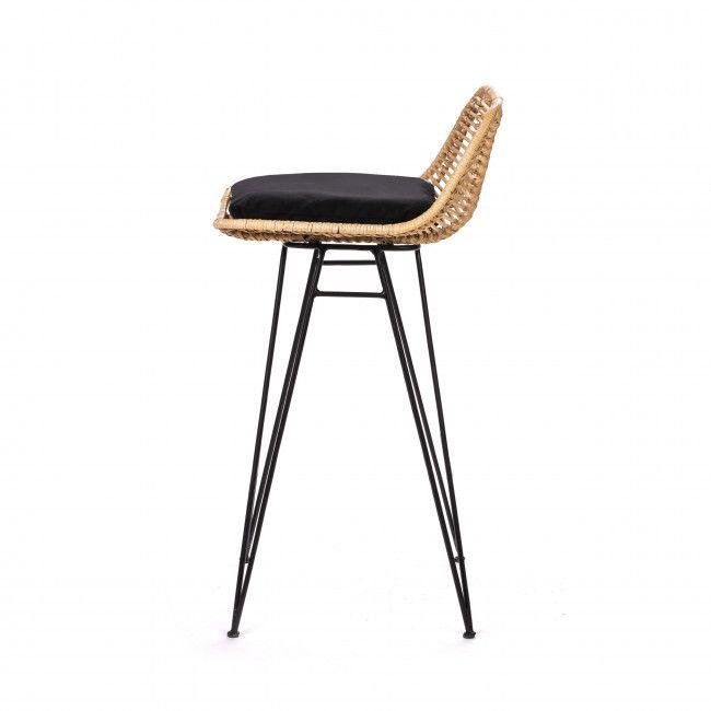 Chaise De Bar Design En Rotin 67cm Drawer Capurgana Chaise De Bar Design Chaise Cuisine Et Chaise Bar