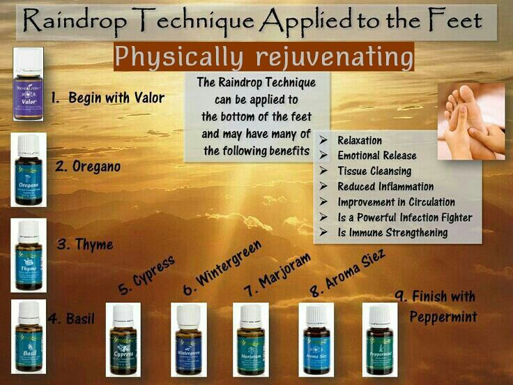 Raindrop Technique application to feet. Young Living Essential Oils ~ Therapeutic Grade Oils