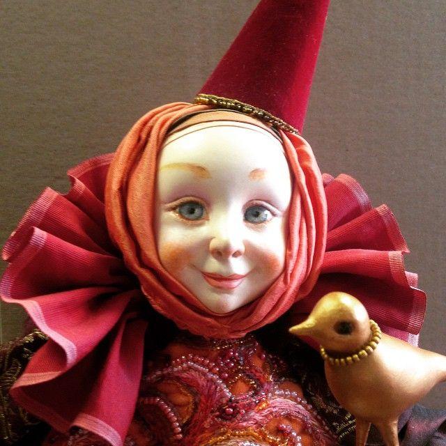 Катя Маньшавина. Принцесса Нахтигаль. Пластик. #куклы #скульптура #статуэтки #искусство #интерьер #дизайн #авторскаякукла #творчество #подарки #пластик