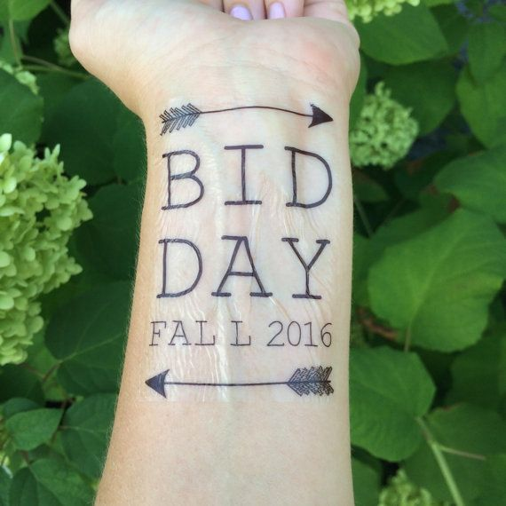 Bid Day, Arrow, Greek Gift, Big Sister, Little Sister, Big Sis, Little Sis, Sorority Tattoo, Temporary Tattoo, Fake Tattoo - Set of 2