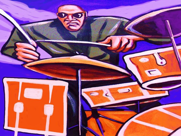 """PAUL MOTIAN PRINT POSTER man cave drums cd lp record album vinyl tom tom snare cymbals kick charlie haden band. CHOOSE PRINT SIZES 9x12"""" ($70) or 18x24"""" ($130)-This quality giclee print is part of my extensive portfolio. I am the artist John Froehlich, aka FRO-ART-This is a """"READY TO FRAME"""" REPRODUCTION PRINT on quality gloss archival paper.-PRINT will be professionally packed and shipped in a sturdy mailing tube, via USPS Priority Mail.-My vibrant colored artwork will become a focal…"""