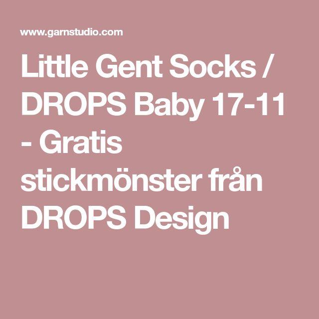Little Gent Socks / DROPS Baby 17-11 - Gratis stickmönster från DROPS Design