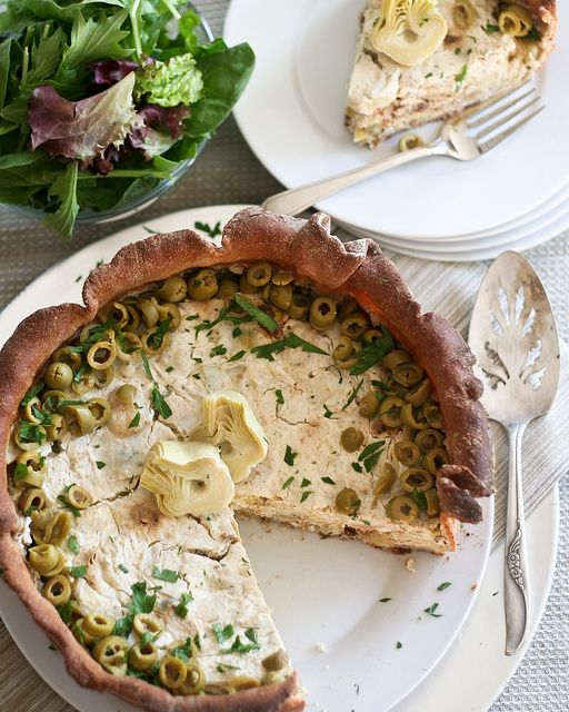 Artichoke and Green Olive Savory Cheesecake-15 by Sonia! The Healthy Foodie, via Flickr