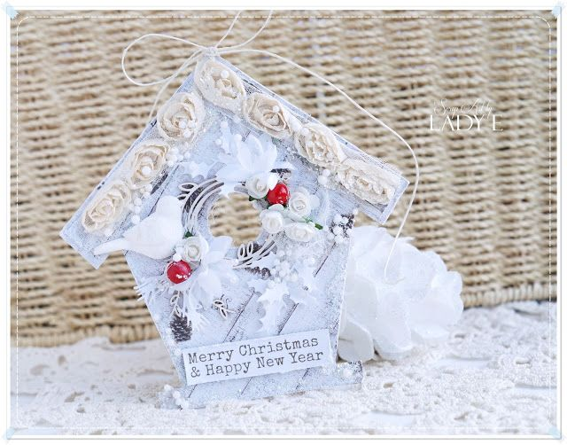 Scrap & Craft: Winter Bird House & New Christmas paper collection