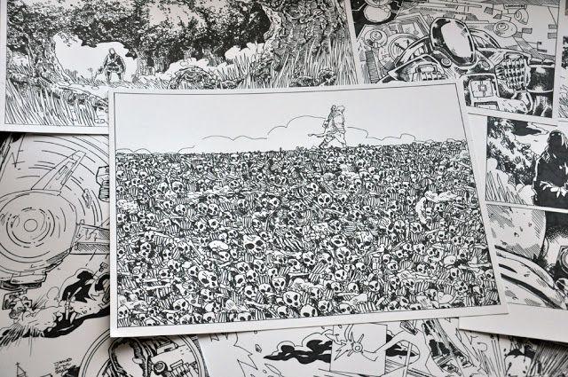 Jakub Kijuc - komiks, ilustracja: Superbohater w lesie i Dolina Kości