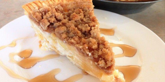 Upečte si doma mňamózní jablkový koláč se zakysanou smetanou.