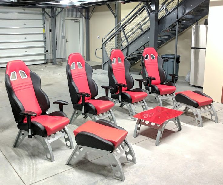 4 of the Red Car Office Guest Chairs 2 of the Red Race Car Footrests 1 of the Red Race Car Side Table , Price: $2,159.93, FREE SHIPPING ,