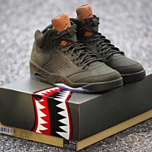 great fit 5a9d6 b2e48 NIKE AIR JORDAN 5 RETRO PREMIUM SEQUOIA TAKE FLIGHT 7-16 881432-305  UNDEFEATED .