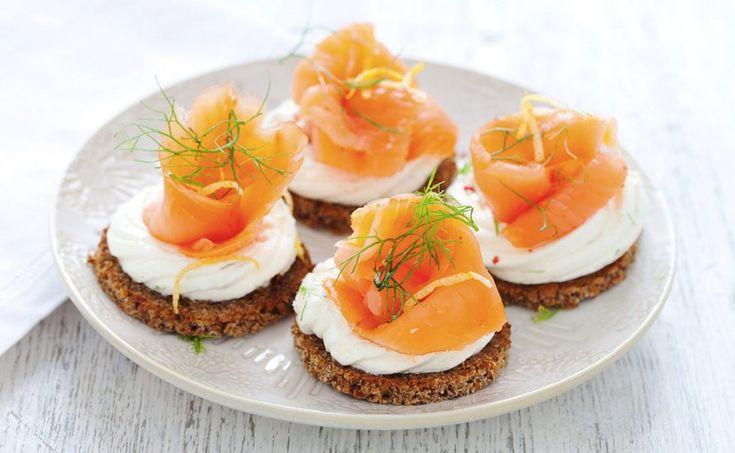 Crostini al salmone affumicato, ricetta