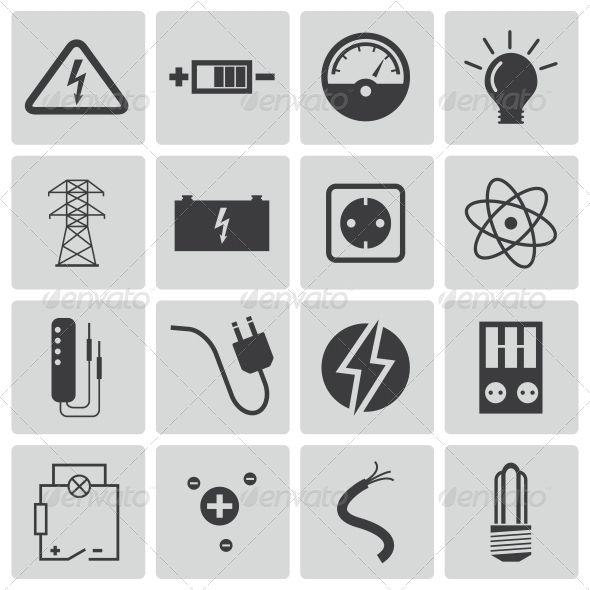 Vector Black Electricity Icons Set — JPG Image #isolated #line • Available here → https://graphicriver.net/item/vector-black-electricity-icons-set/6497354?ref=pxcr