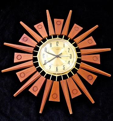 MCM starburst wall clock