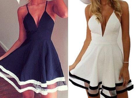 Summer loving dress in white or blue