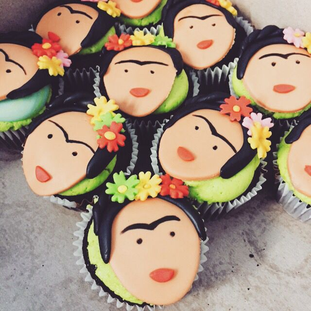 Frida Kahlo Cupcakes by: Little Sweeties Cupcakes