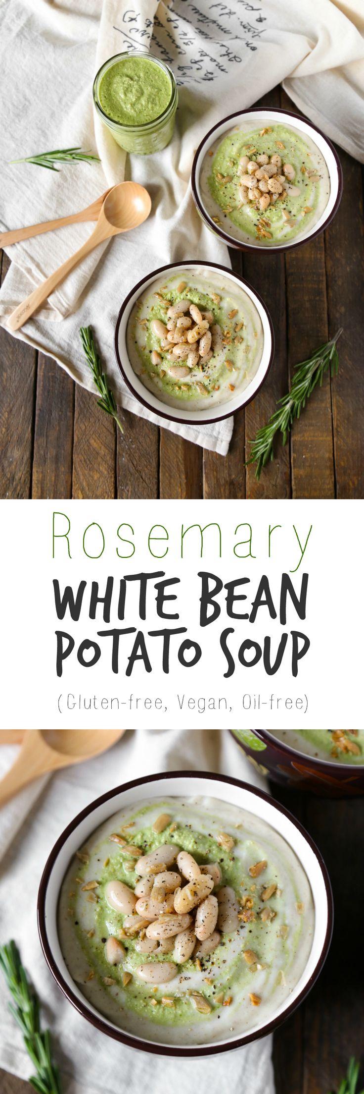 Rosemary White Bean & Potato Soup | Gluten-free, Vegan, Oil-free | The Plant Philosophy