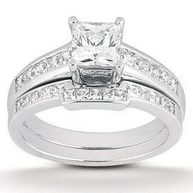 1.10CT Princess Cut Channel Set Diamond Wedding Engagement Ring 14K White Gold Pompeii3 Inc., http://www.amazon.com/dp/B0048AH5M4/ref=cm_sw_r_pi_dp_9eCOqb13FZ1FN