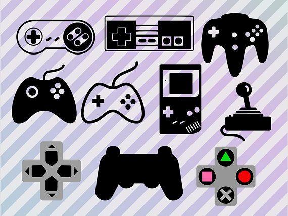 Videogames Svg Bundle, Joysticks cut files, Gamer svg files, dxf, eps and png clip art. Video game controller svg, Joystick svg, gaming dxf