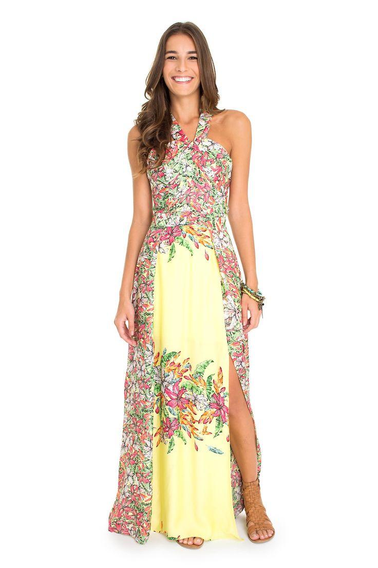 Vestido longo fiesta das flores - chic chic primavera