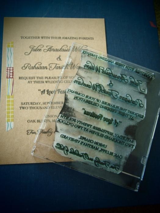 diy stamp invitation