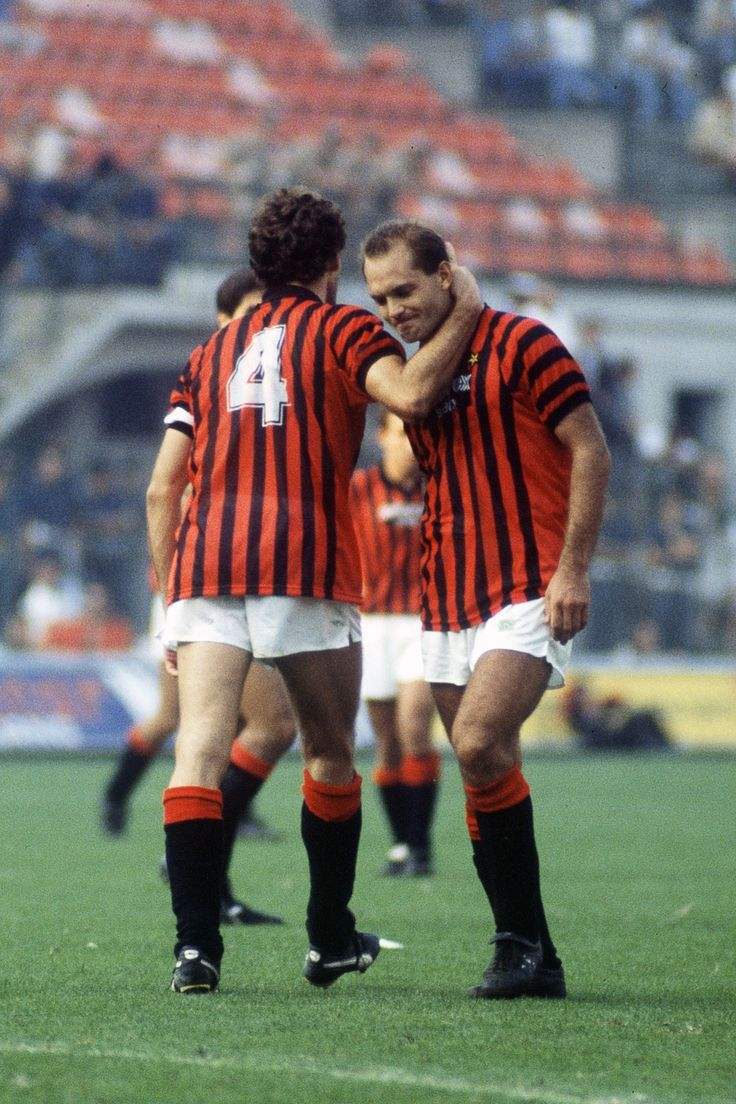 Ray Wilkins & Franco Baresi.