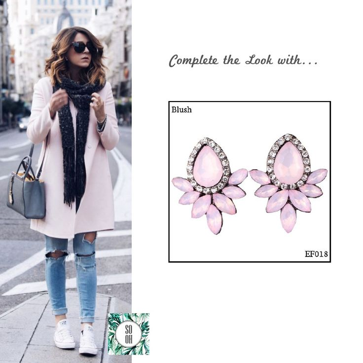 Ref: EF018 Blush Medidas: 3.5 cm x 2.5 cm So Oh: 6.99  #sooh_store #onlinestore #style #inspiration #styleinspiration #brincos #earrings #fashion #shoponline #aw2016 #aw1617 #winterstyle