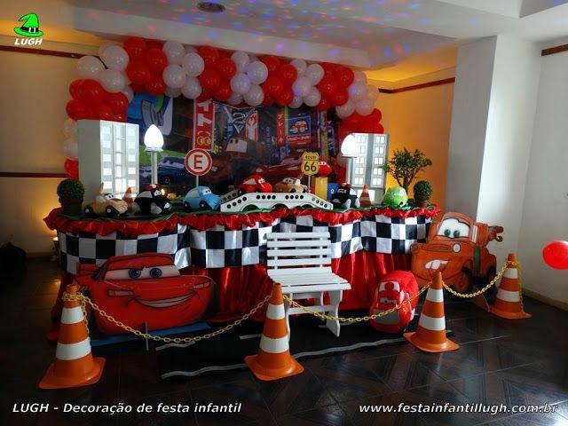 Decoração tema Carros (Disney), festa de aniversário infantil