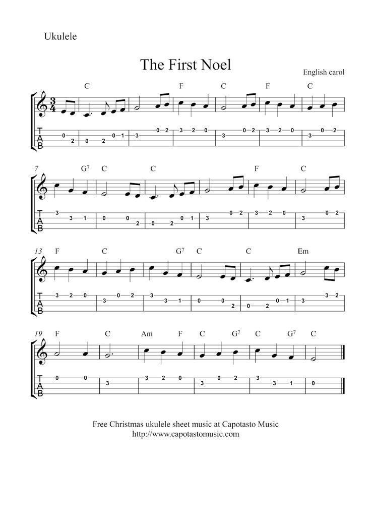Free Sheet Music Scores: Ukulele Christmas