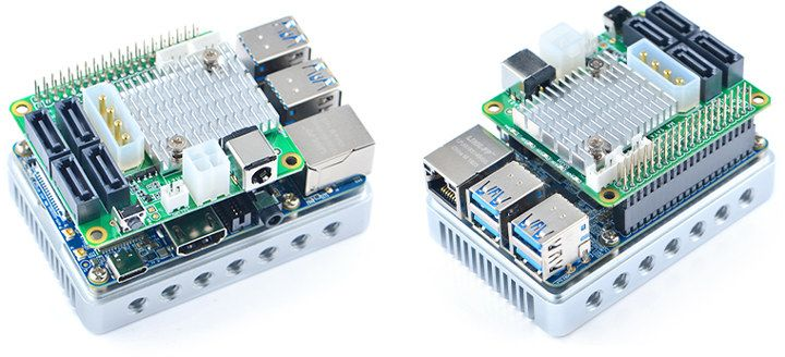 Design your own NAS with $25 4x SATA HAT for NanoPi M4 Board