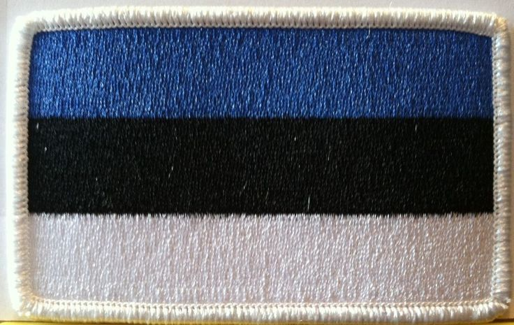 ESTONIA Flag Embroidered Iron-On Patch Tactical Morale Emblem White Border #FastServiceDesigns #Embroidered #Patches