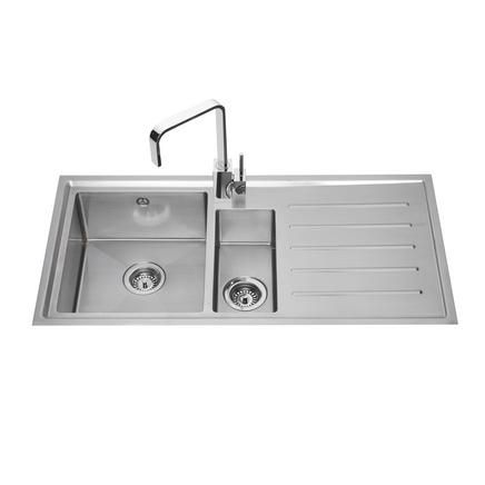 Lamona Windermere 1.5 Bowl Sink | Stainless Steel Kitchen Sinks | Howdens Joinery