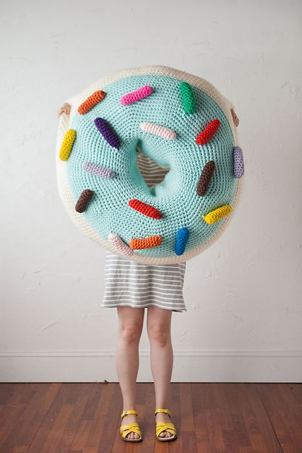 giant crocheted donut