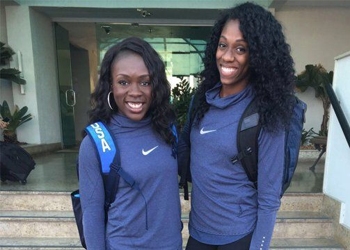 USATF @usatf  Aug 8 #USATF Fast Track: @MsFastTwitch & @theTrackQueen: http://www.usatf.org/News/USATF-Fast-Track--Morolake-Akinosun-and-Ashley-Spe.aspx … #Rio2016