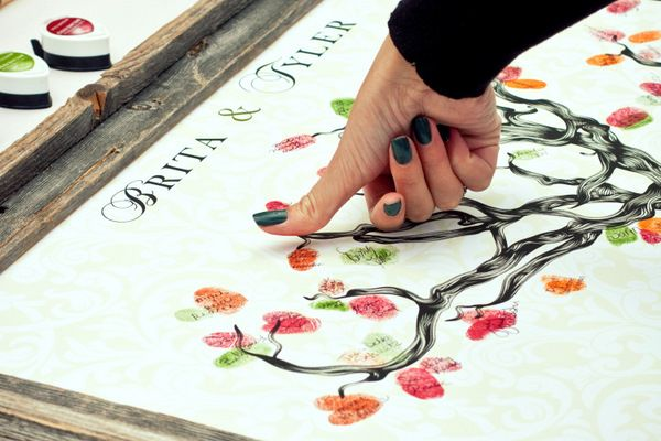 This is such a creative and fantastic idea instead of a guest book! It can be framed!!