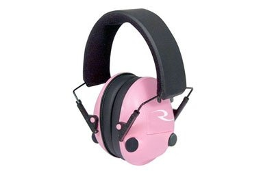 Buy Radians Pink Pro-Amp Electronic Ear Protection Muff    Electronic sound amplification earmuff with 2 independent high frequency directional microphones. Automatically compresses harmful impulse to a safer range below 85dB without clipping or cutting. Padded CoolMax® headband moves moisture away while providing cool comfort. A compact folding feature allows for easy storage.