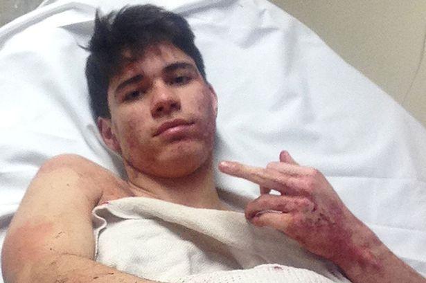 Teenager who posed for blood-spattered selfie after slashing throat of civil servant he met on Grindr GUILTY of murder - Mirror Online