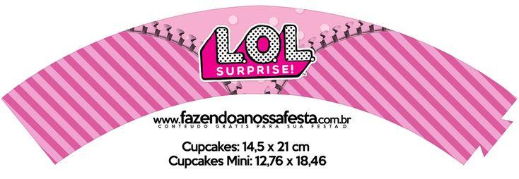 Uau! Veja o que temos para Saias Wrappers para Cupcakes LOL Surprise – Invitacionadero