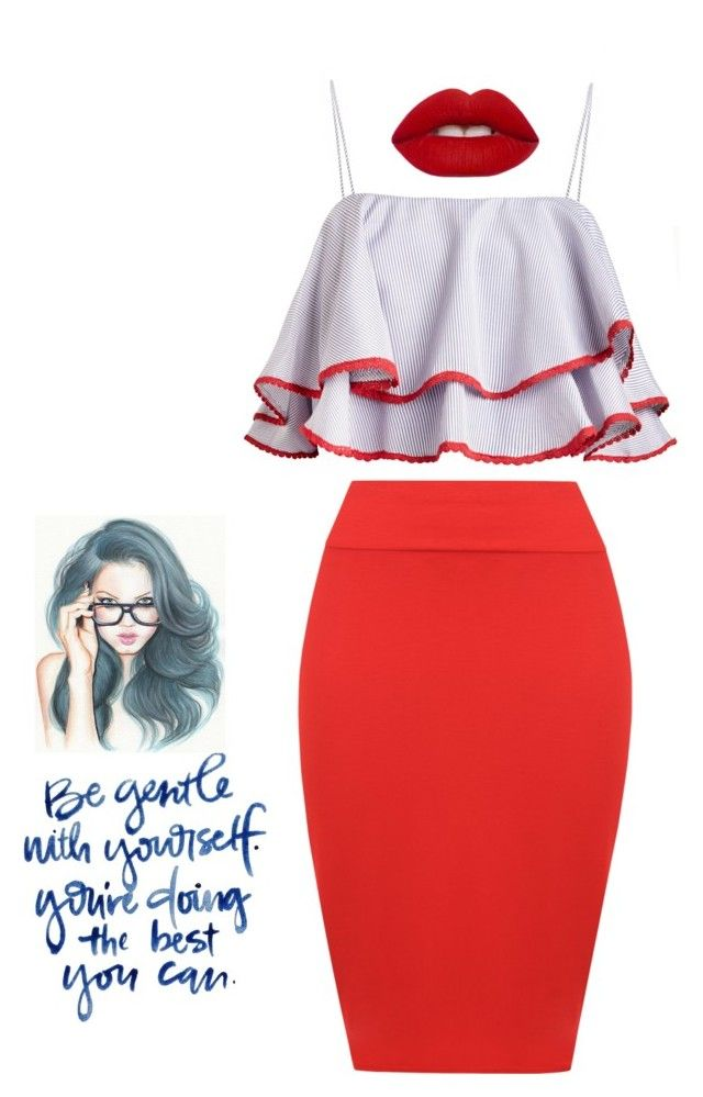 """""""Red!"""" by archita-dewi on Polyvore featuring WearAll and Lime Crime"""