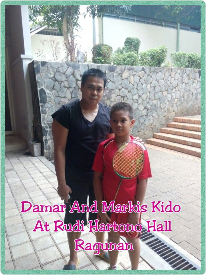 Damar and Markis Kido at Rudi Hartono Badminton Hall