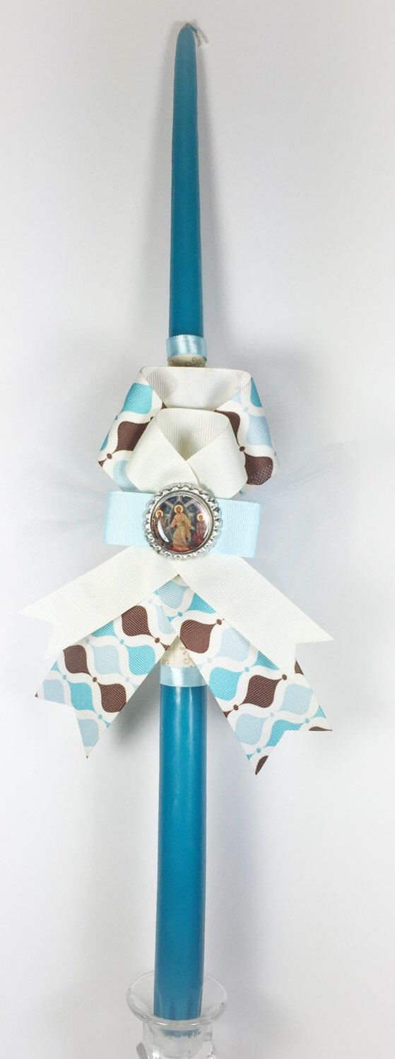 Icon Greek Easter Candle (Lambatha) by EllinikiStoli on Etsy https://www.etsy.com/listing/227855955/icon-greek-easter-candle-lambatha