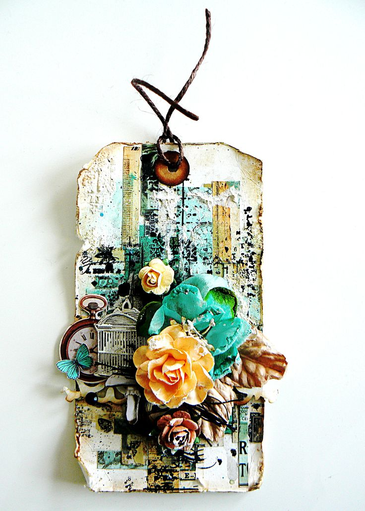 """Tag made with """"Chasing rabbit"""" kit of july of Scrap of Elegance _ Stéphanie Papin"""