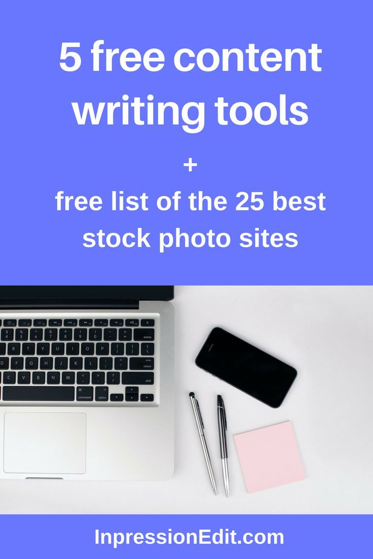 5 free content writing tools you need to use + free stock