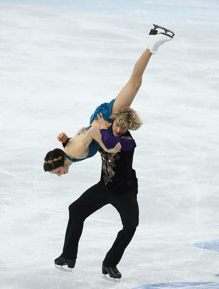 Meryl Davis and Charlie White of the United States compete in the Team Ice Dance Free Dance during day 2 of the Sochi 2014 Winter Olympics a...