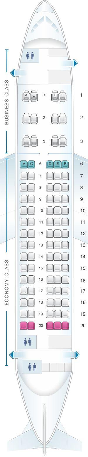 Seat Map Aeroflot Russian Airlines Sukhoi Superjet 100-95B