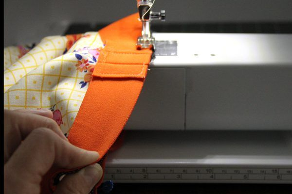 Sewing the waistband