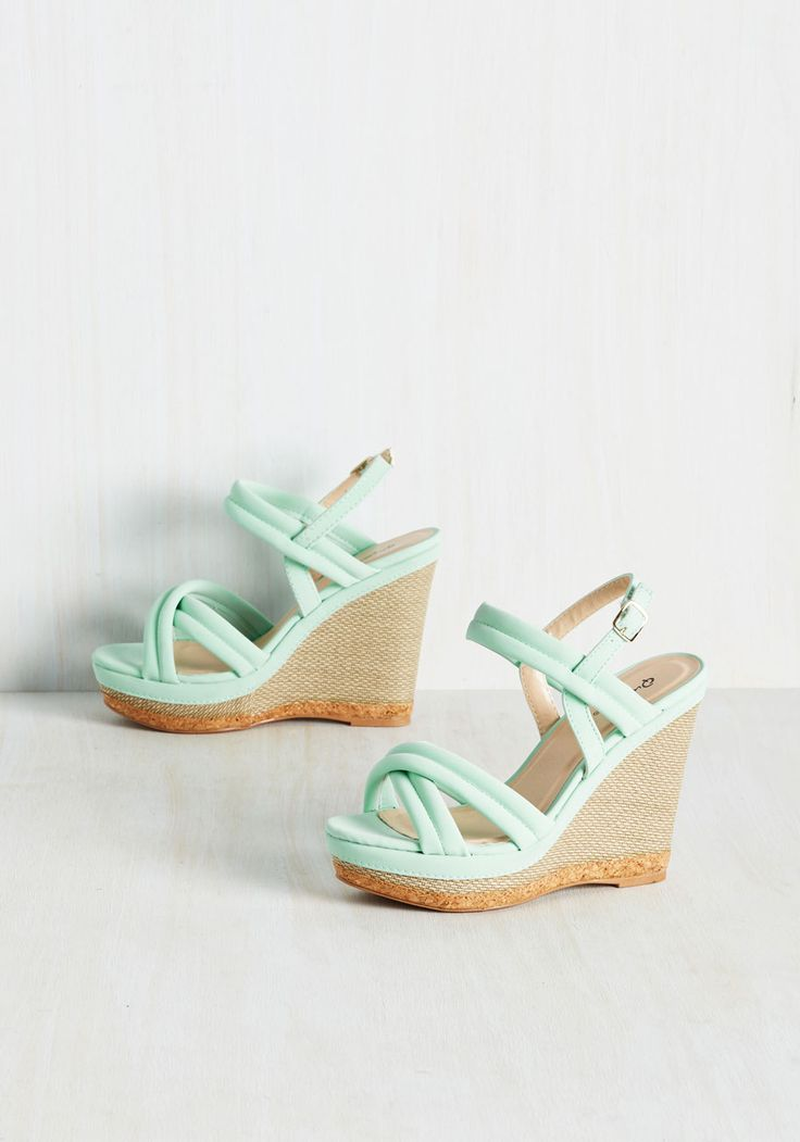 Textured Perfection Wedge, @ModCloth