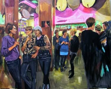 "Saatchi Art Artist Helena Janecic; Painting, ""Madchen Disco night at the Mobel Olfe"" #art"