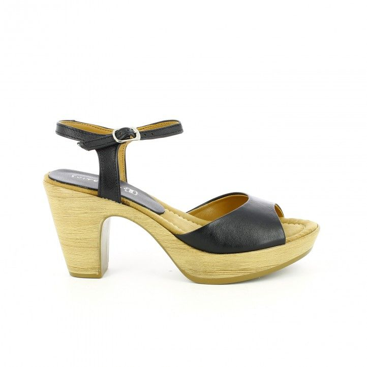Sommers Sommers Sandales Noires Wedge Sandalssandalias: 6,5 Cm